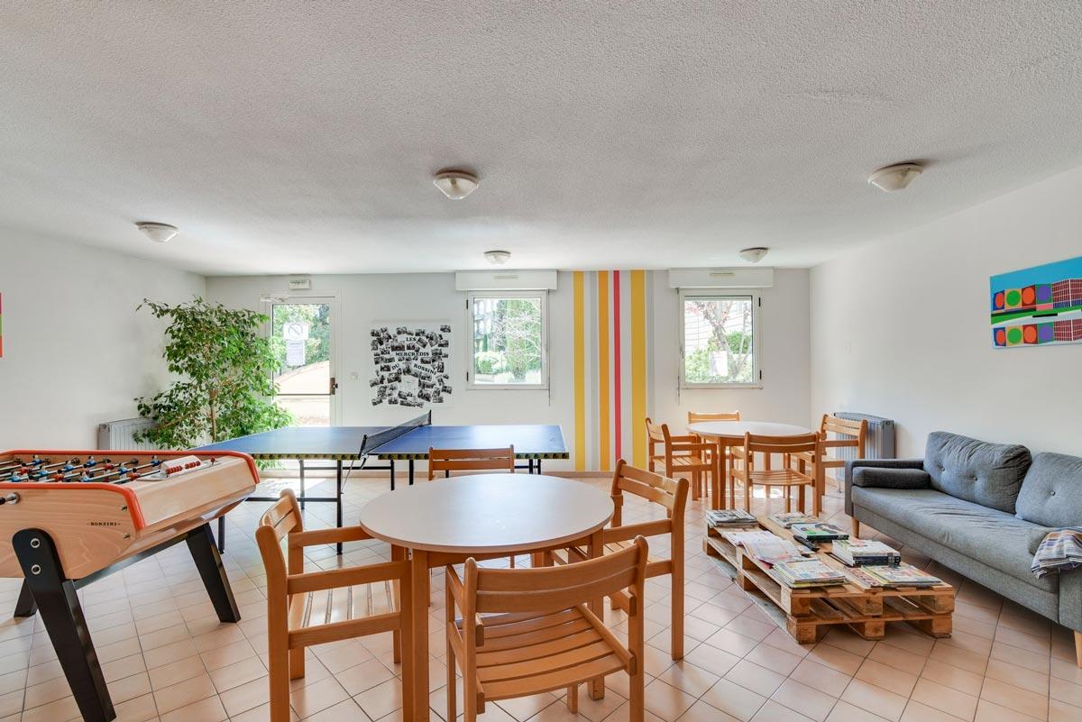 salle commune résidence étudiante LOGIFAC Le Rossini Aix-en-Provence