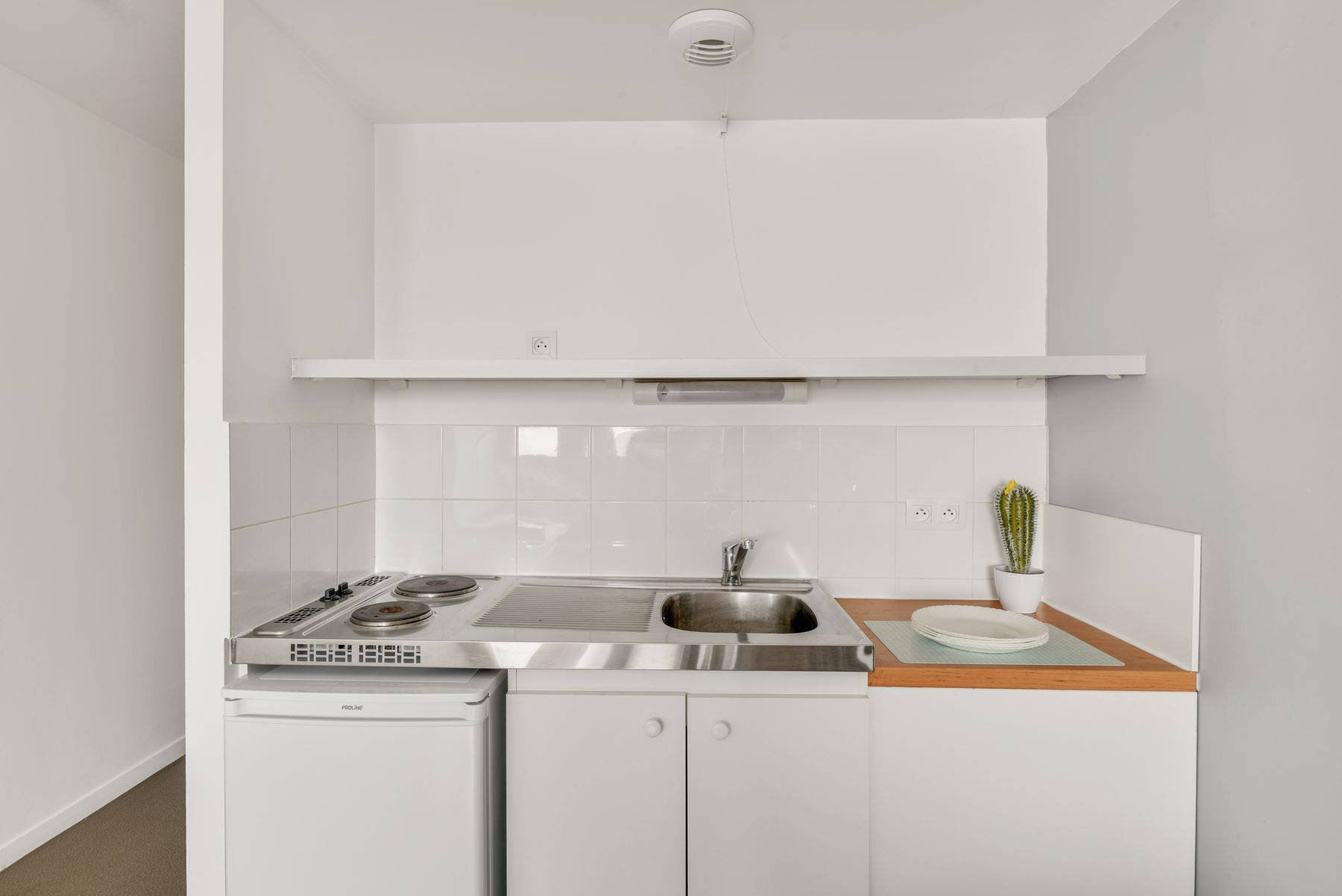 LOGIFAC résidence étudiante Condorcet Aubervilliers coin cuisine
