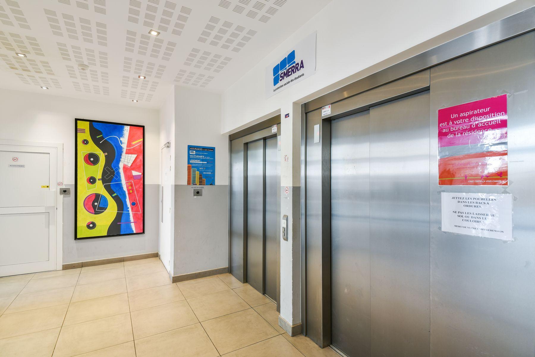 LOGIFAC résidence étudiante Condorcet Aubervilliers ascenseurs