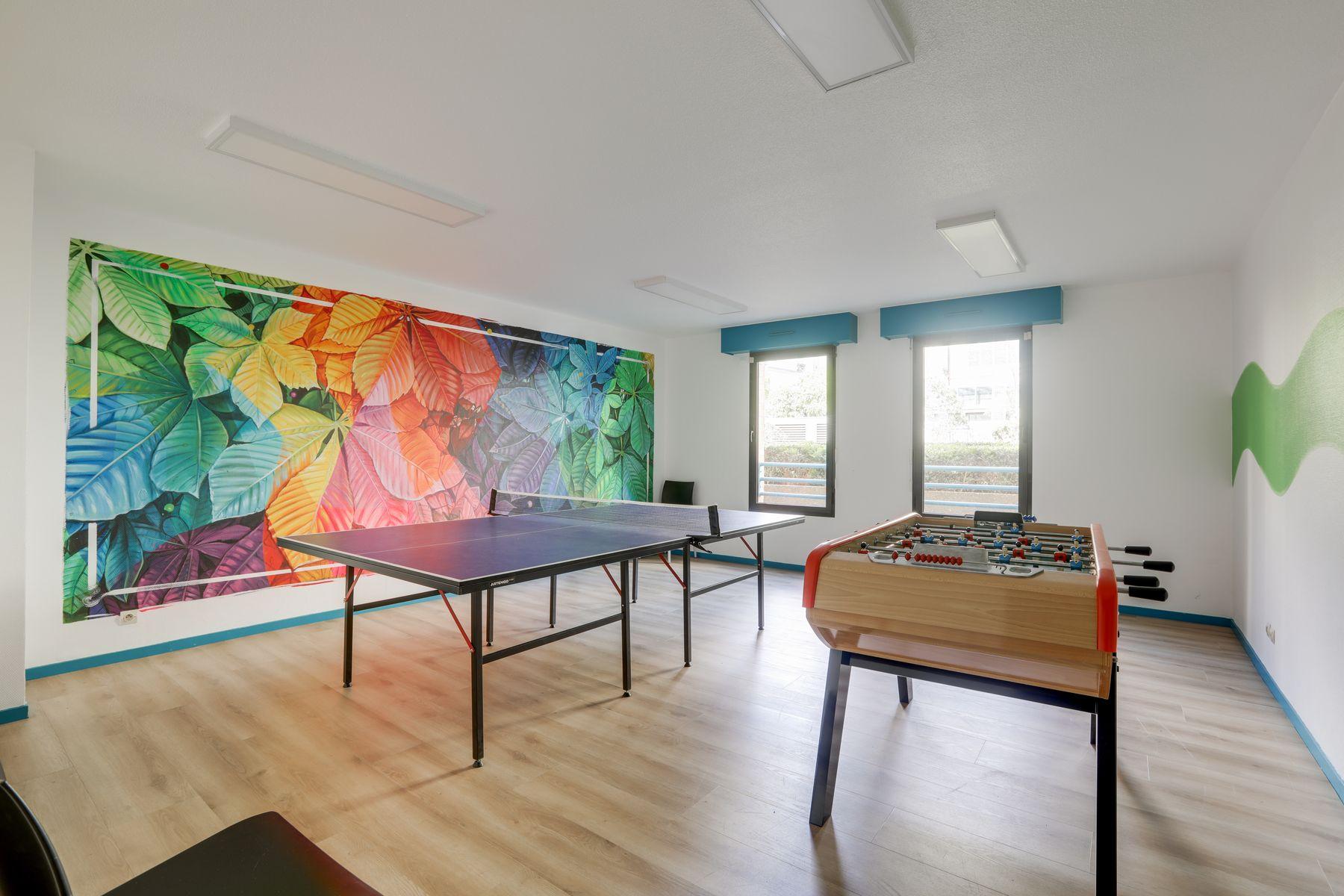 LOGIFAC résidence étudiante Corneille Rouen ping-pong baby-foot