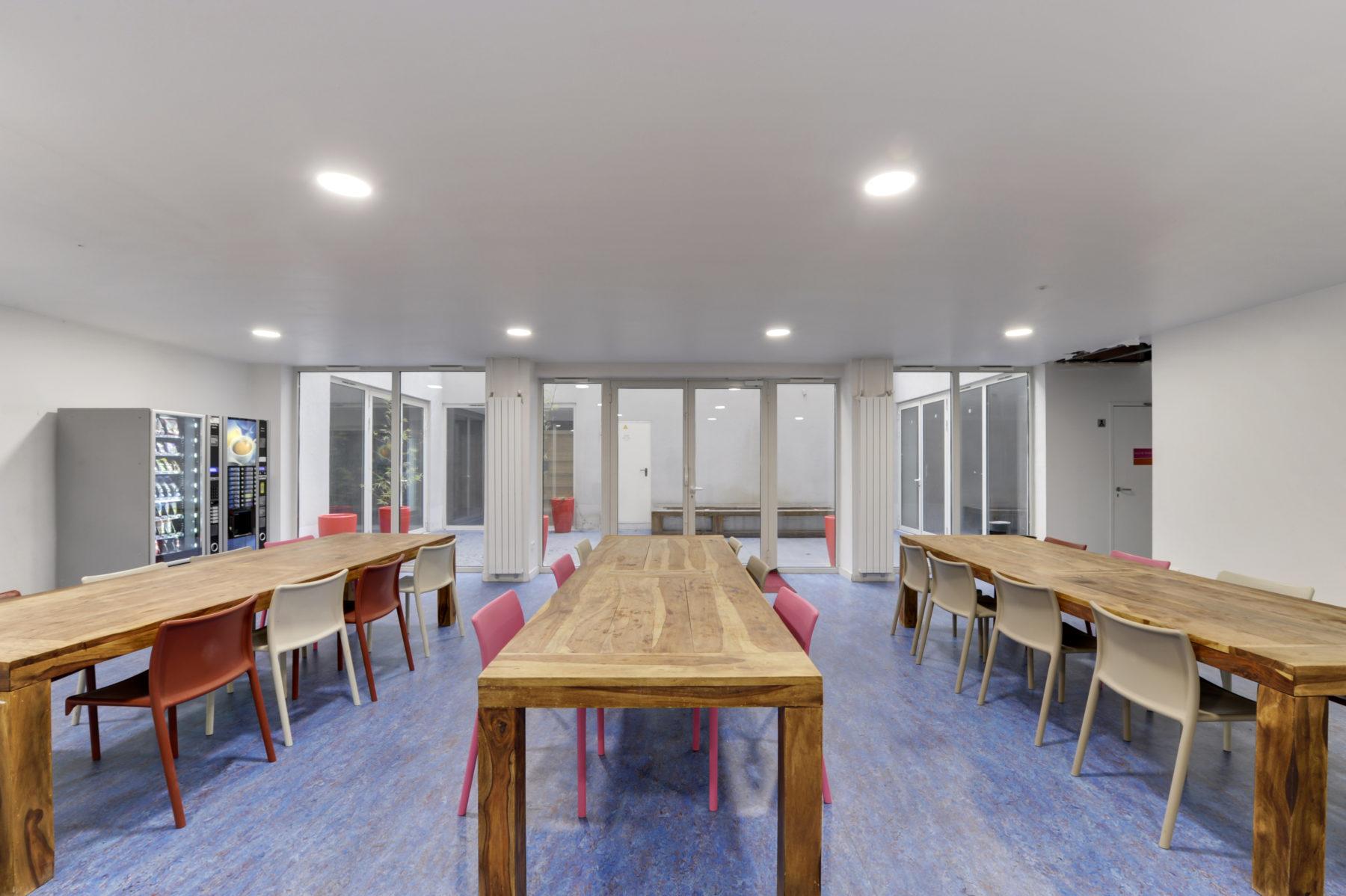 espaces communs résidence étudiante LOGIFAC Paris Diderot