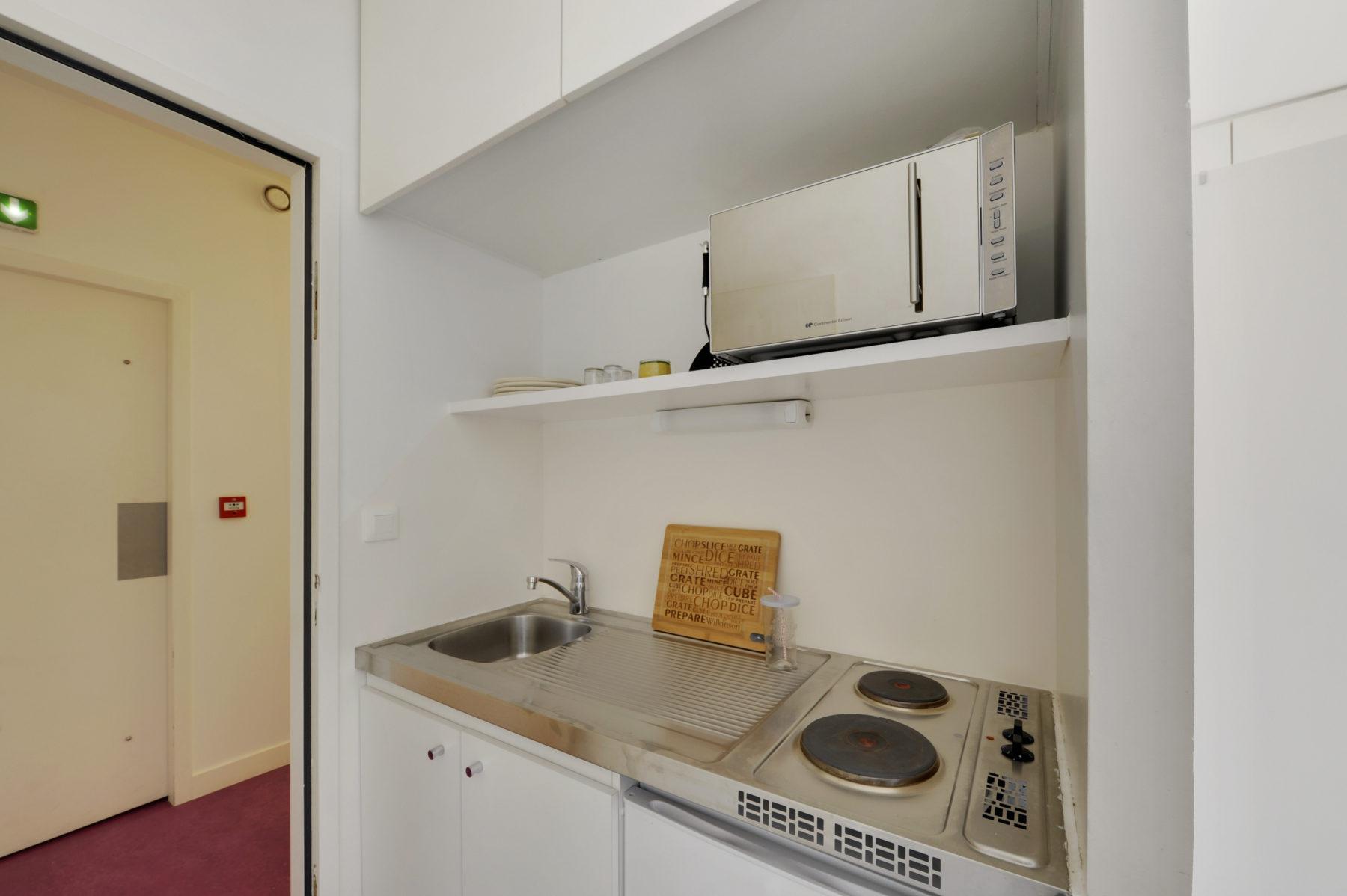 kitchenette résidence étudiante LOGIFAC Paris Diderot