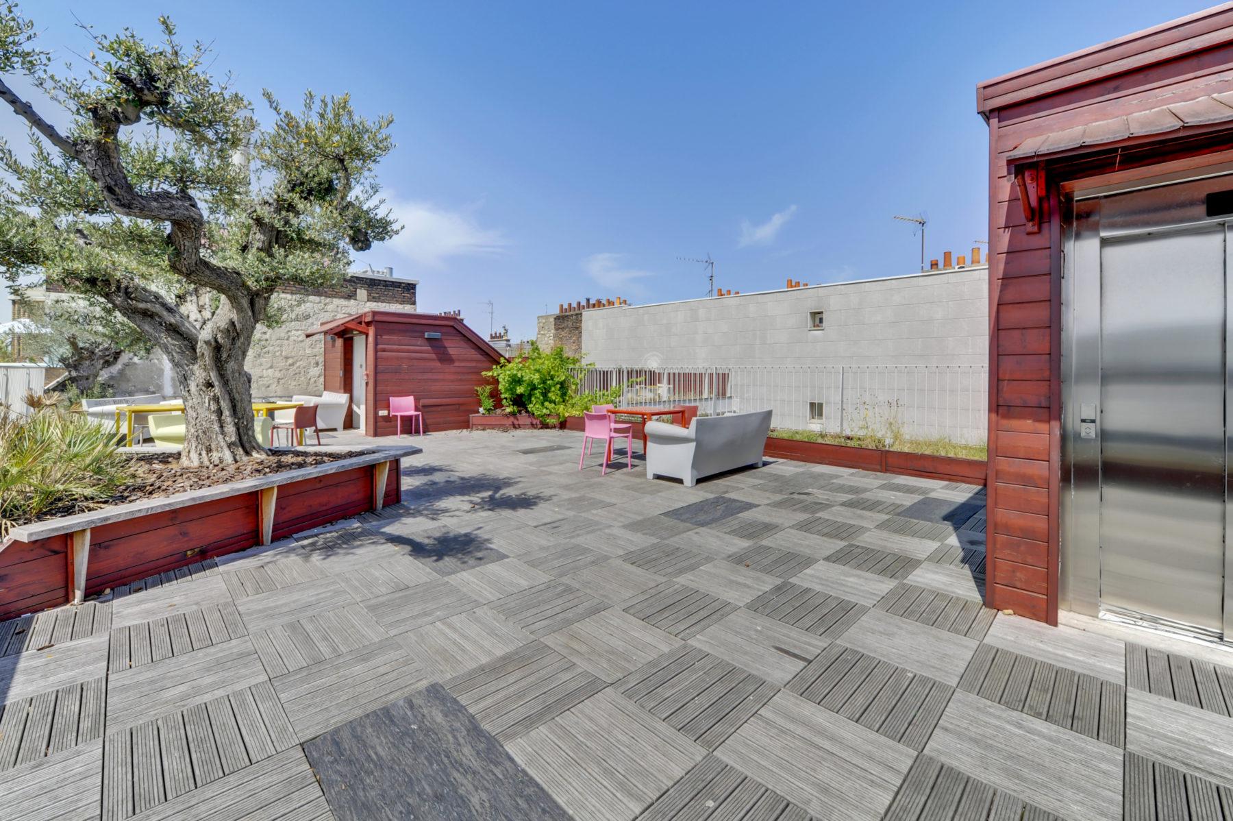 rooftop aménagé terrasse résidence étudiante diderot