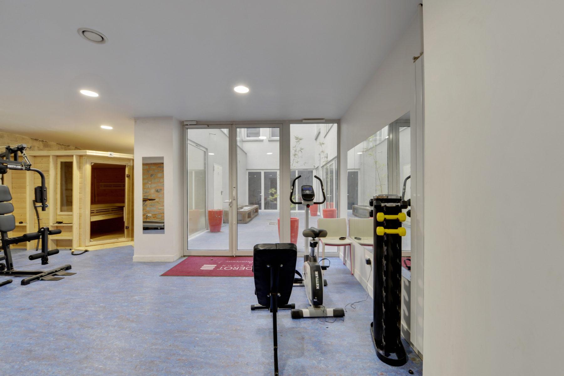 salle de sport résidence étudiante LOGIFAC Paris Diderot