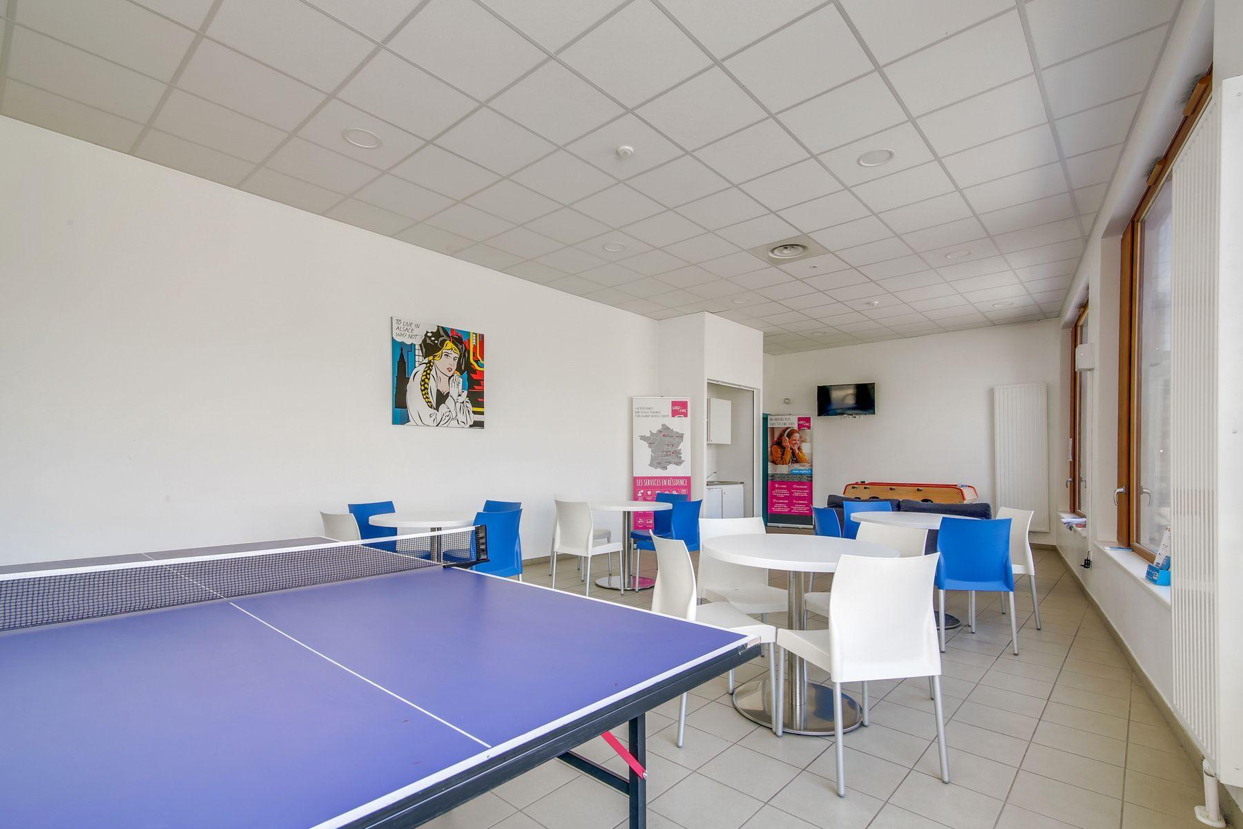 LOGIFAC résidence étudiante Kellerman Strasbourg ping-pong