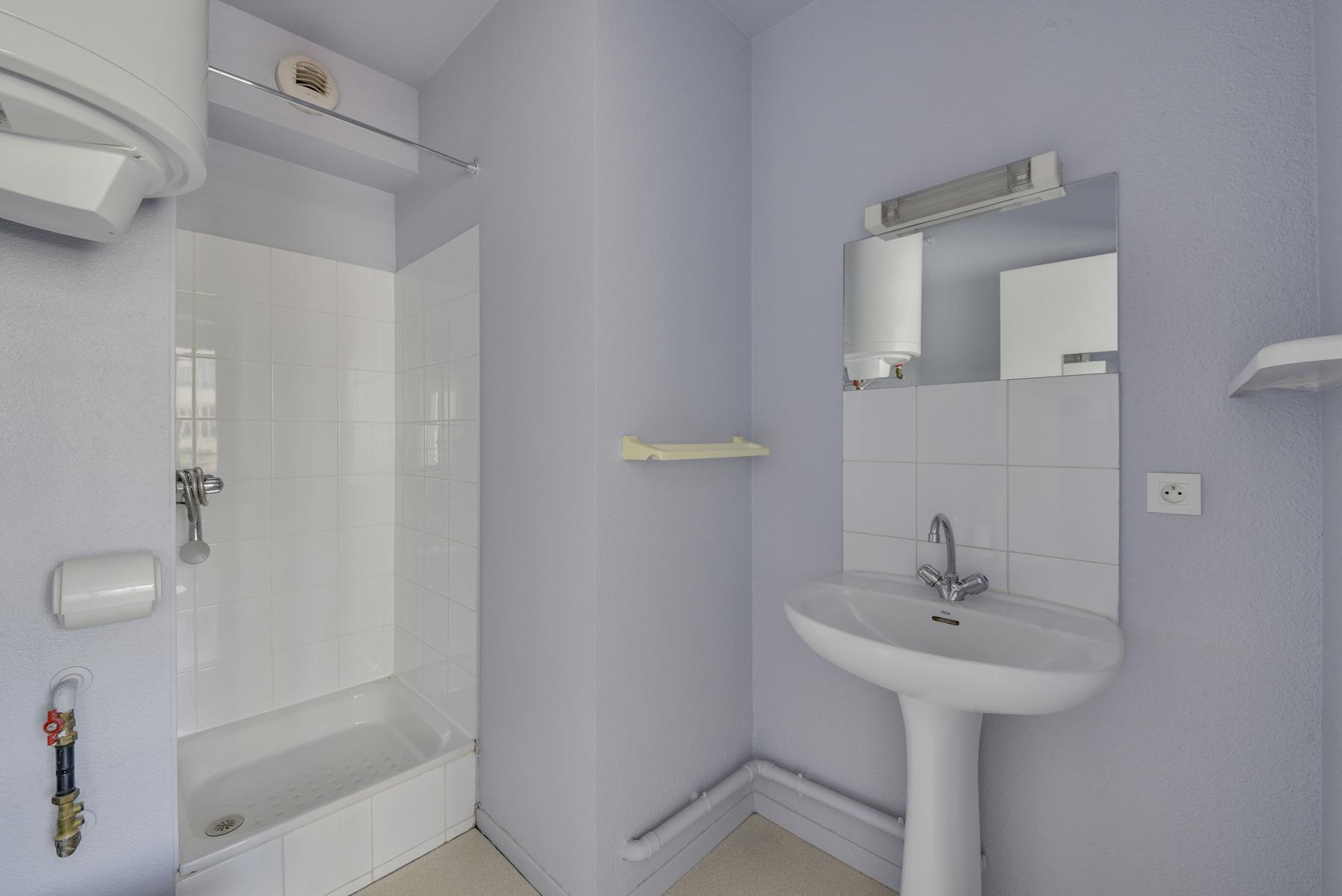 salle d'eau résidence étudiante Athénée Lyon LOGIFAC