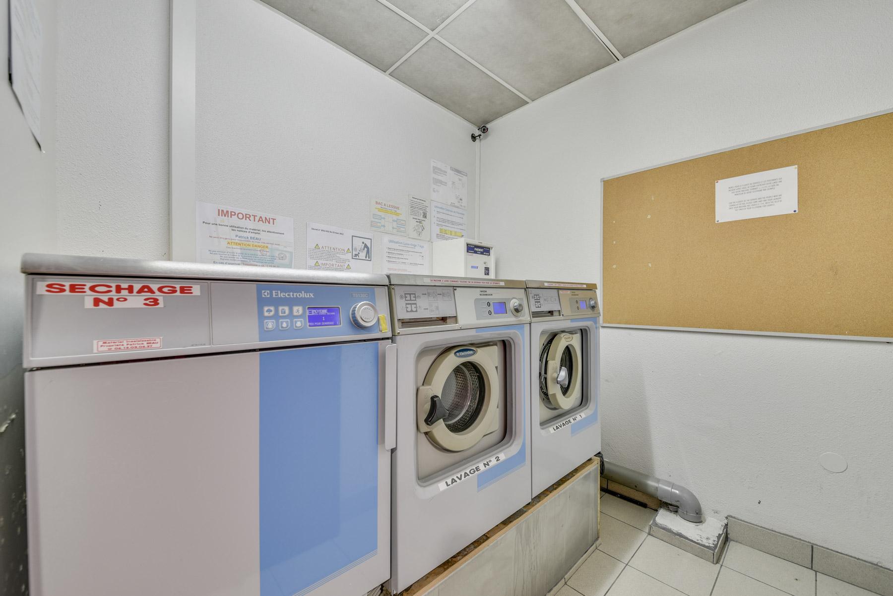 laverie résidence étudiante Athénée Lyon LOGIFAC