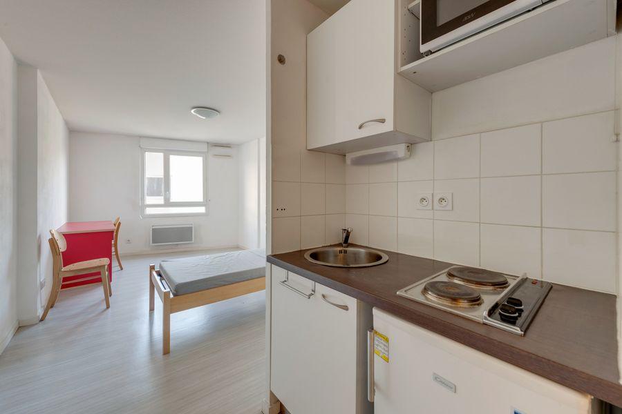 cuisine équipée résidence étudiante LOGIFAC Bancel Lyon