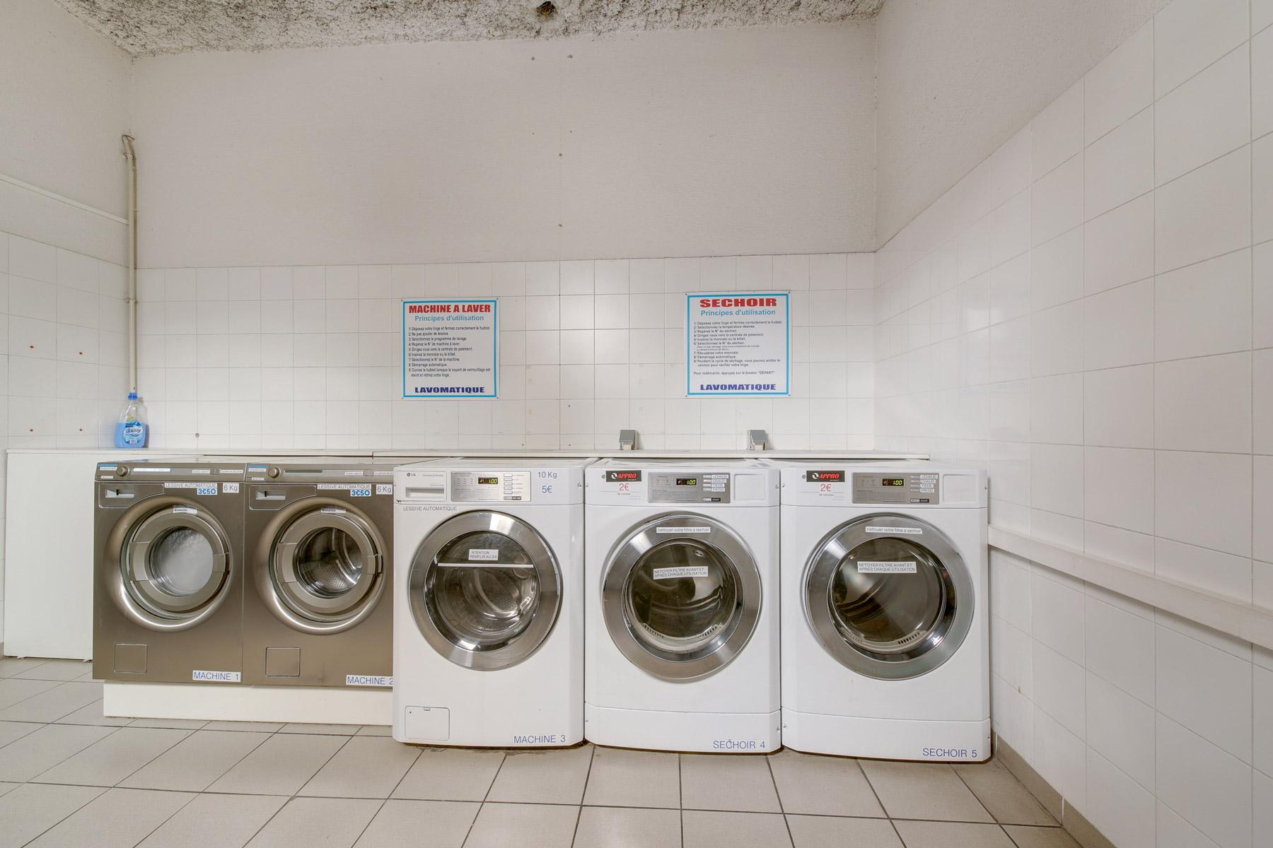 machines à laver LOGIFAC résidence étudiante Parvis des facultés Montpellier