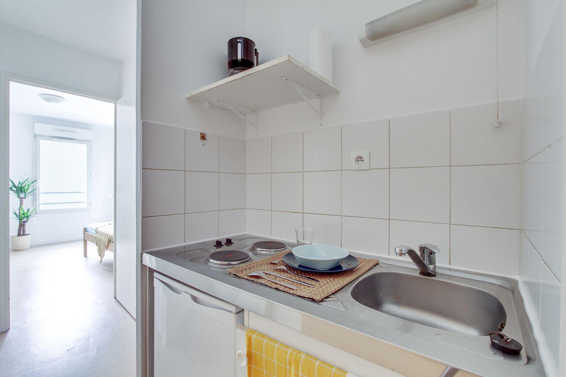 LOGIFAC résidence étudiante Bon temps Melun coin cuisine