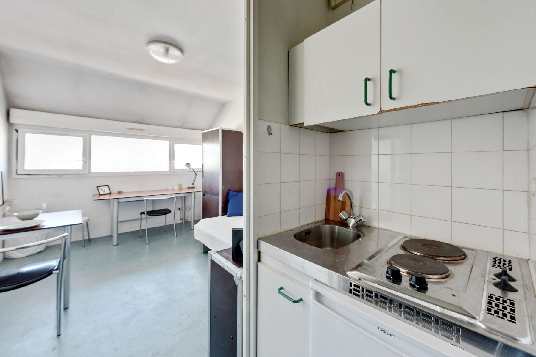 Maison des Étudiants du Rhône LOGIFAC résidence étudiante coin cuisine