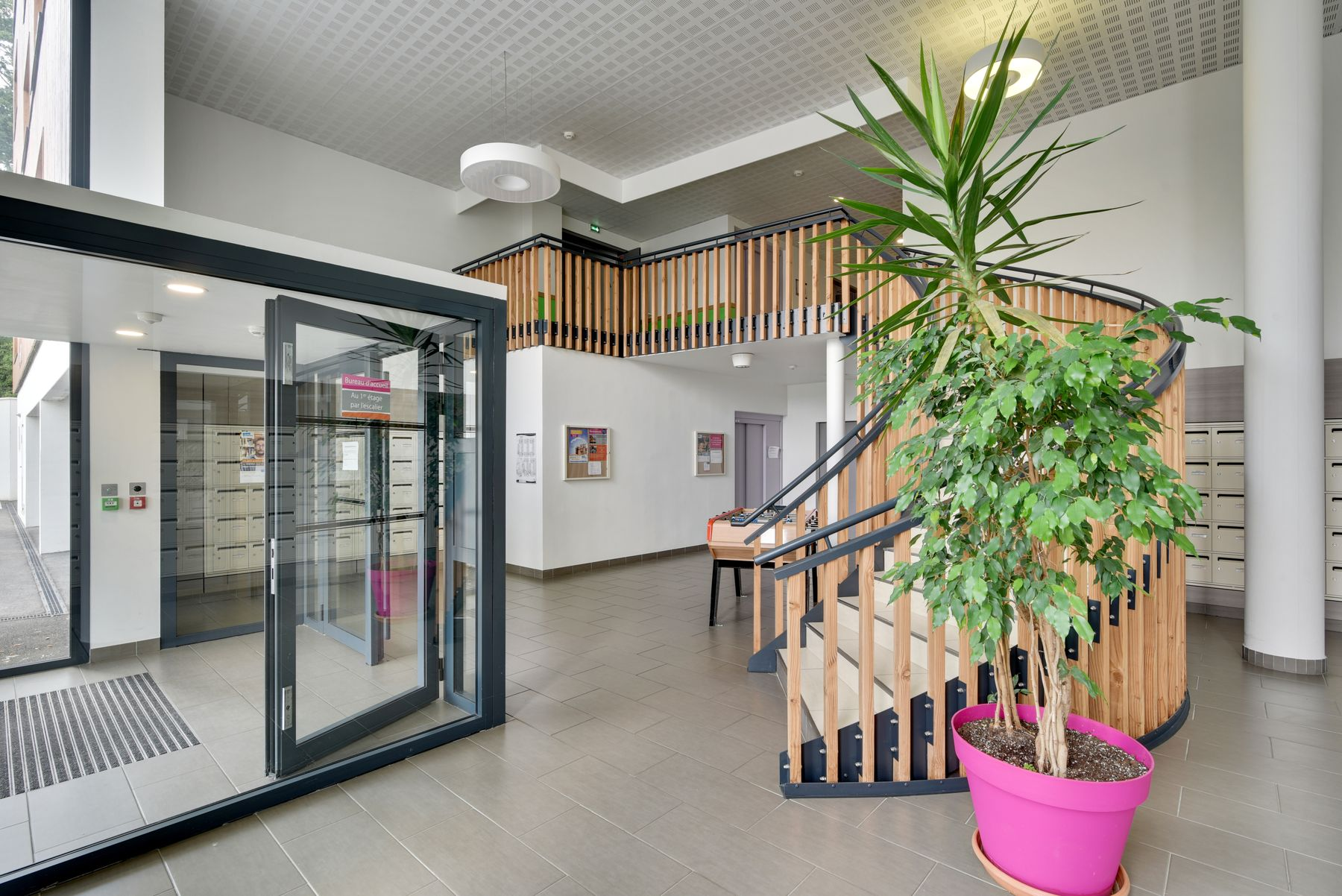 accès commun résidence étudiante LOGIFAC La Rivière Nantes