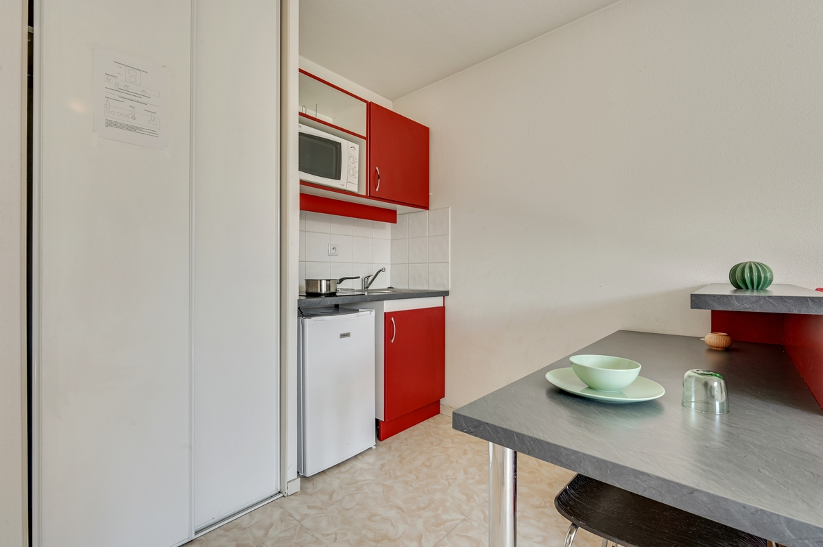 kitchenette logement residence etudiante logifac Lyon Virgile